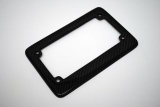 Real Carbon Fiber License Plate Frame Cover for Motorcycle Bike