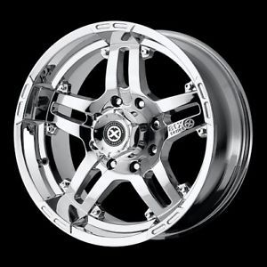 "16"" ATX Artillery AX181 Wheel Set Chrome Offroad Rims"