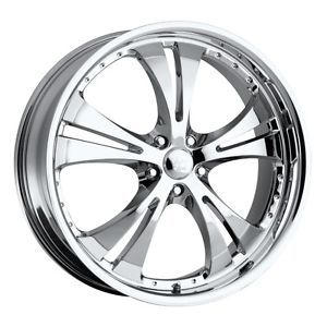 16 inch Vision Shockwave Chrome Wheels Rims 5x110 42