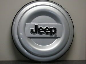 2001 2007 Jeep Wrangler or Liberty Hard Tire Cover Silver New 82208448