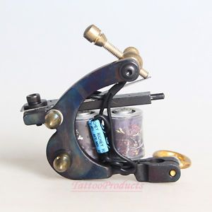 New Cast Iron Professional Tattoo Machine Gun 10 Wrap Coils for Shader Supply