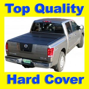 "Solid Tri Fold Hard Tonneau Tonno Bed Cover 04 12 Chevy GMC Pickup Truck 5'8""Bed"