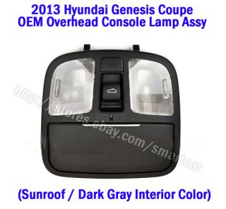 2013 Hyundai Genesis Coupe Overhead Console Lamp Assy Sunroof Version