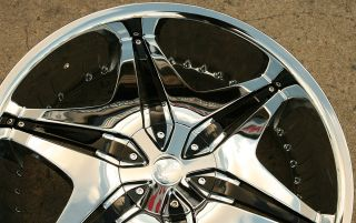 Akuza Big Papi 712 22 x 8 5 Chrome Rims Wheels Eldorado 94 03 5H 35