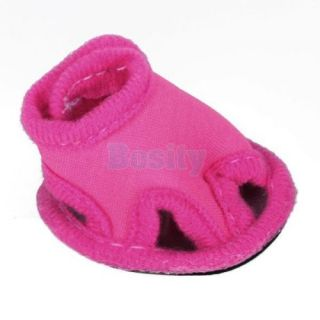 Pet Puppy Dog Summer Shoes Sandals Boots Shocking Pink No 1 2 3 4 5 Rubble Sole