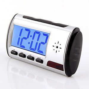 Spy Clock Cam Hidden Camera DVR Recorder Remote Control Motion Detect