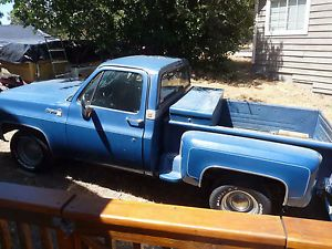 Classic 1979 Chevy Chevrolet Cheyenne C10 Pick Up Truck Step Side Short Bed