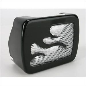 Black Chrome Flame Coil Cover for Harley Davidson FXST FLST Softail