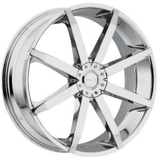 "24"" Akuza Zenith 5x115 5x120 Chrome 35 24x8 5 Wheels Rims"