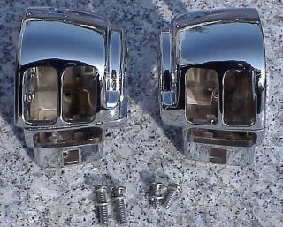 Harley Electra Glide Street Glide Road Glide Chrome Switch Housings