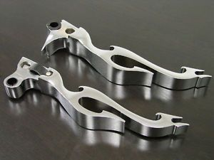 Chrome Flame Clutch Brake Levers for Harley Sportster XL Softail Dyna Wide Glide