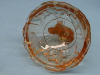Scottish Terrier Scottie Dog Vintage Akro Agate Glass Powder Jar USA
