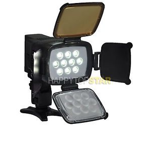 10 LED 5012 Video Lamp Lighting Kit for Camcorder DV Camera Battery Charger