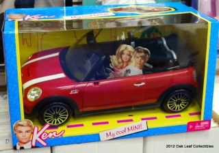 Barbie Ken My Cool Mini Cooper Red Convertible Car 2011 New