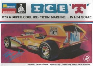 Monogram Ice 'T' Tom Daniel Hot Rod Plastic Model Car Kit 1 24 Scale 85 4266