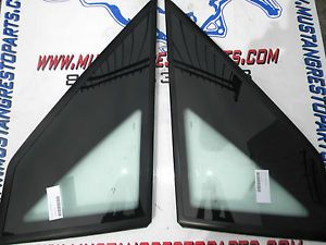 1987 1993 Ford Mustang Hatchback Quarter Windows Pair Foxbody GT