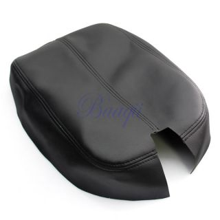Center Console Lid Armrest Cover Artificial Leather Black Fit for Honda MA426