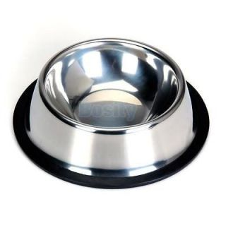 3X Stainless Steel Non Skid Bowl Pet Dog Puppy Cat Feed Bowl Dish Size 2