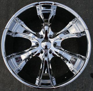 "Akuza OJ 437 24"" Chrome Rims Wheels 24 x 10 GMC Sierra 07 Up"
