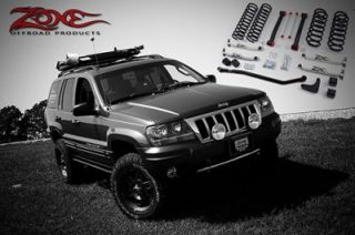 "4"" Suspension Lift Kit System by Zone Offroad Jeep Grand Cherokee WJ 99 04 J17"