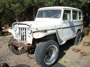 1963 63 Willy Panel Wagon Pickup Truck Willys Jeep