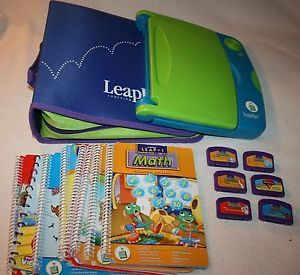Leap Frog LeapPad Learning System 6 Cartridges Games Books Used Case School