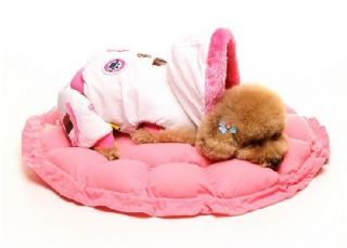 Pet Puppy Dog Cat Soft Pet Bed Round Kennel Sleeping Bag Warm Cushion Pillow