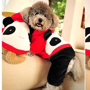 Pet Dog Puppy Winter Autumn Lovely Panda Costume Clothes Coats Hoodie Jacket