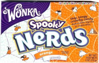 Huge Box of Spooky Nerds Candy Tiny Tangy Orange Punch Halloween Candy