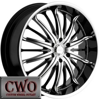 22 Black Akuza Belle Wheels Rim 5x120 5 Lug BMW 5 6 7 8 Series S10 Blazer Jaguar