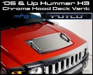 '05 09 Hummer H3 Chrome Hood Deck Vent with Handles