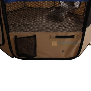 "New 45"" Medium 2 Door Playpen Pet Puppy Dog Cat Tent Crate Exercise Kennel Blue"