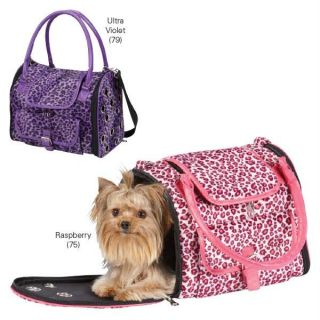 Leopard Dog Pet Puppy Cat East Side Collection Carrier Purse Tote Up to 11 Lbs