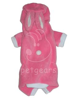 Pet Dog Cat Bunny Rabbit Halloween Costume Pink Small Apparel Size 10 12 14 18