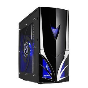 Envizage E 3393 Black ATX Case with Blue LED Fan Gaming PC Tower Case