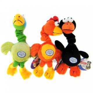Ethical Chirpies Unique Singing Bird Plush Dog Toy with Stretchy Neck 14""