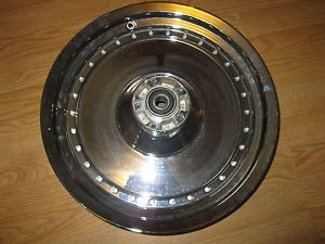 Harley Davidson Chrome Fatboy Fat Boy Front Wheel Rim 2000 2006