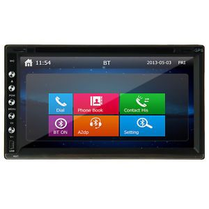 "6 95"" in Dash 2Din Touch 1080p Video Car DVD Player GPS Navigation Radio Audio"