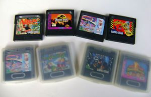 Lot of 8 Sega Game Gear Game Cartridges