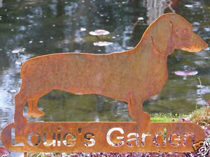 Dachshund Dog Memorial Garden Yard Stake Pet Weiner