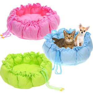 Pet Puppy Dog Cat Soft Pet Sleeping Bag Warm Cushion Cozy Bed Nest Mat Kennel