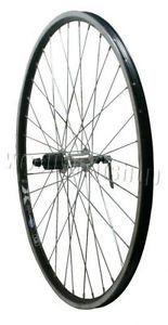 700c Rigida Black Hybrid Bicycle Rear Wheel Shimano Hub for 8 9 Speed Cassettes