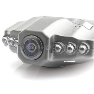 6 IR LED HD 720P Motion Detection Car DVR Audio Video Recorder with Color Camera