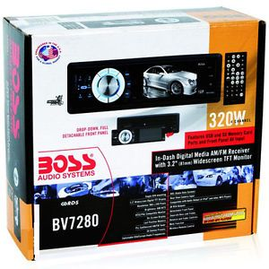 "New Boss BV7280 in Dash Car Radio CD DVD Video Player 3 2"" Monitor Receiver 2013 791489104555"