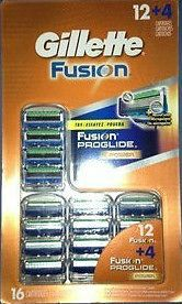 16 Gillette Fusion Proglide Power Razor Blade Cartridges 12 and 4 Free SHIP