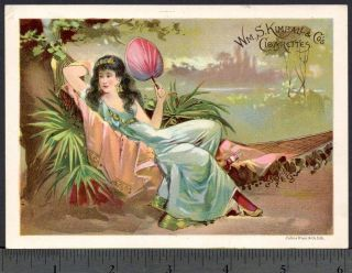 1800's Harem Brothel Arab Woman Big Beauty Kimball Cigarette Tobacco Trade Card