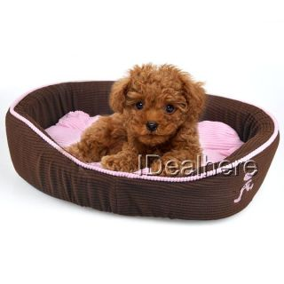 50cm Brown New Luxury Pet Dog Home Decor Oval Bed Sleep Accessories