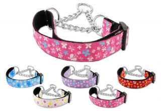 Dog Pet Puppy Butterfly Martingale Choker Nylon Collar Limited Slip Safety Leash