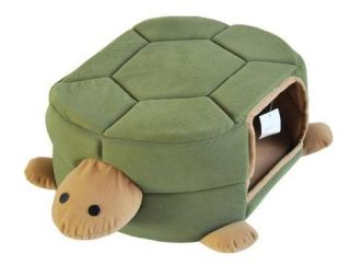 W07 Green Turtle Shaped Pet Cat Dog Bed House Sofa 2 Uses Free Gifts