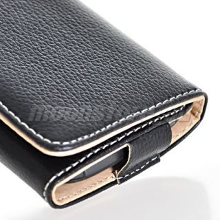 Black Leather Wallet Case Cover Card Pouch Accessory for Nokia N8 N9